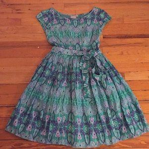 Unusual pretty patterned cotton dress